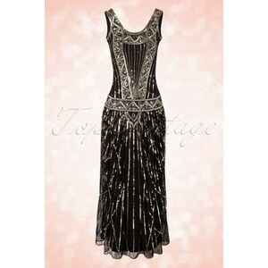 Frock and Frill 20s Francesca Maxi Dress in Black