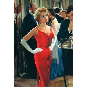 Glamour Bunny 50s Parisienne Dress in Red