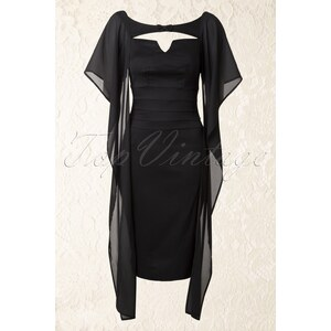 Miss Candyfloss 50s Leonore Pencil Dress in Black