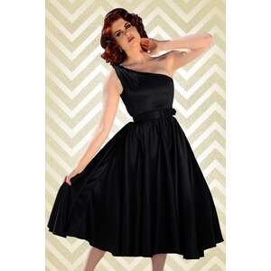 Pinup Couture 50s Valerie Dress in Black