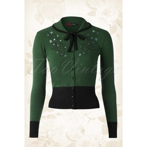 Bunny 40s Annabelle Cardigan in Green