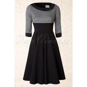 The Pretty Dress Company 50s Black Mistress Houndstooth Vintage Swing dress