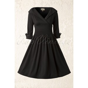 Lindy Bop 50s Ramona Royal Swing Dress in Black