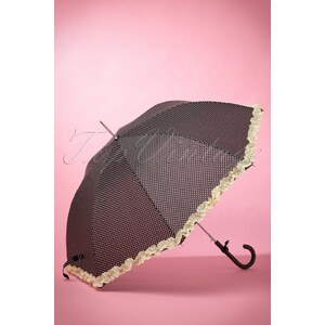 So Rainy 50s We Love Polkadots Umbrella in Black
