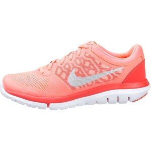 Nike Performance FLEX 2015 RUN Laufschuh Leichtigkeit lava glow/metallic silver/bright crimson