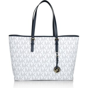 MICHAEL Michael Kors Jet Set Travel MD Multifunction Tote Navy/White Handtasche