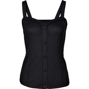 RAINBOW Shirttop ohne Ärmel in schwarz für Damen von bonprix