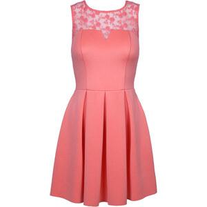 Tally Weijl Pinkes Kleid mit transparenter Spitze