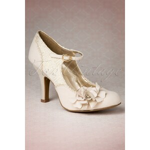 Ruby Shoo TopVintage exclusive ~ 50s Emily Pumps in Cream