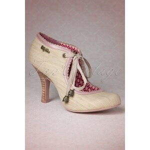 Ruby Shoo TopVintage exclusive ~ 40s Gwyneth Booties in Champagne