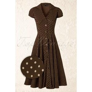 Bunny 50s Harriet Shirt Dress Choco Brown