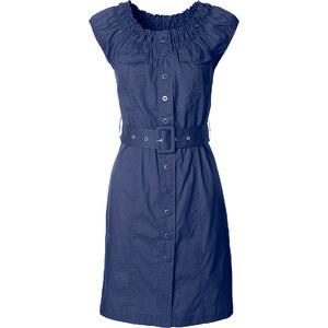 Kleid/Sommerkleid kurzer Arm figurbetont in blau von bonprix