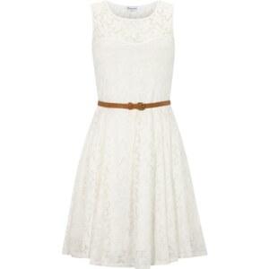 Glamorous Kleid aus floraler Spitze mit Taillengürtel
