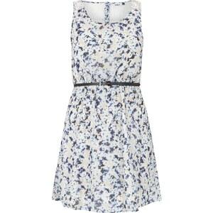 ONLY Kleid mit Blumenmuster und Gürtel