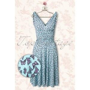 Vintage Chic 50s Grecian Butterfly Dress in Light Blue
