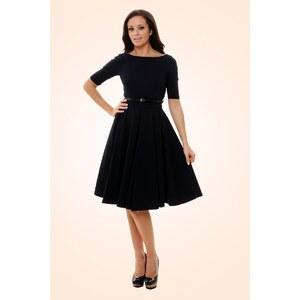 The Pretty Dress Company Black Hepburn Full Circle 50s retro shift dress