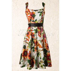 Hearts & Roses 50s Summer Floral Swing Dress