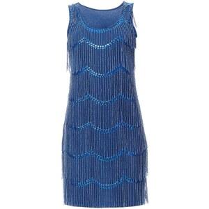 Or Collection Kleid mit kurzem Schnitt - blau