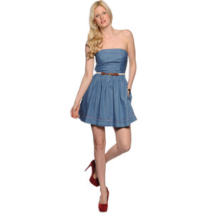 Tommy Hilfiger Fayna strapless dress Damen Kleider XL blau