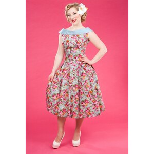Miss Candyfloss 1950s Payton Sue Floral Swing Dress
