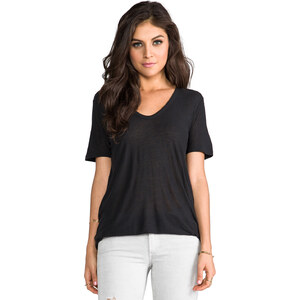 T by Alexander Wang Slub Classic Tee in Charcoal