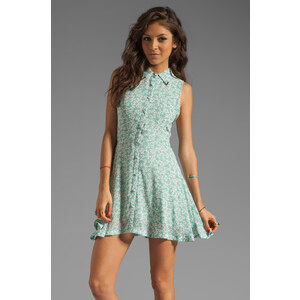 Lucca Couture Metal Tip Collared Tank Dress in Mint