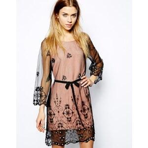 Jovonna Addis Sheer Embellished Dress