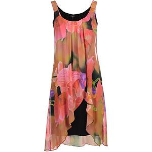 Bexleys woman, Trägerkleid, Schwarz/Pink/Orange/Gelb/Lila/Grün, Größe 48