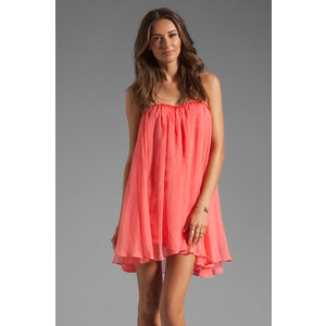 BLAQUE LABEL Short Chiffon Dress in Coral