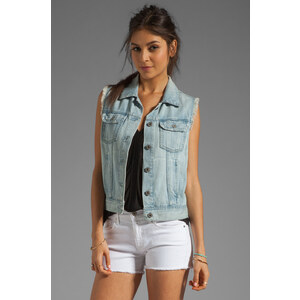 AG Adriano Goldschmied The Heather Easy Denim Vest in Blue