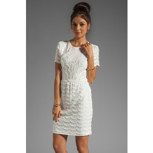Marc by Marc Jacobs Scallop Tier Lace Dress in White