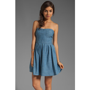 Jack by BB Dakota Jouett Chambray Dress in Blue