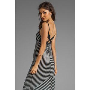 Gypsy 05 Cabarete Jersey Stripe Knit Maxi Dress in Black