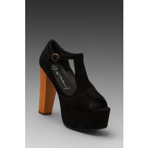 Jeffrey Campbell Foxy Platform w/ Wood Heel in Black