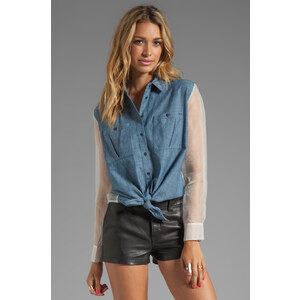 Elizabeth and James Tucker Shirt in Blue