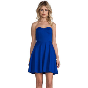 Amanda Uprichard Strapless Ponti Dress in Blue