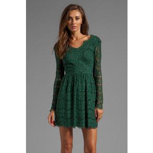 Dolce Vita Selene Eyelash Lace Dress in Green