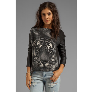 Dolce Vita Greyer Tame Tiger Sweater in Charcoal