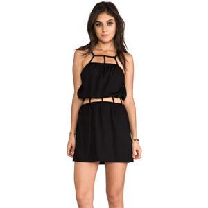 Indah Safi Cut Out Trim Mini Dress in Black