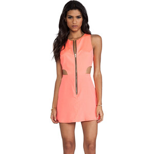 Naven Retro EXCLUSIVE Cutout Dress in Coral