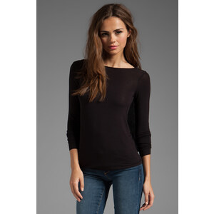 Bailey 44 Iambic Pentameter Ruffle Back Top in Black
