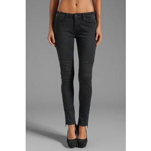 D-ID Moto Zip Skinny in Vintage Black
