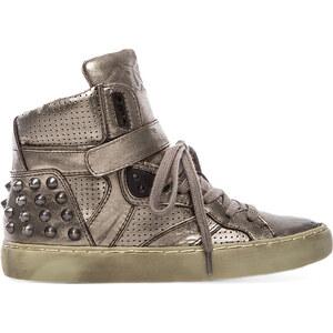 Ash Skunk Sneaker in Metallic Silver