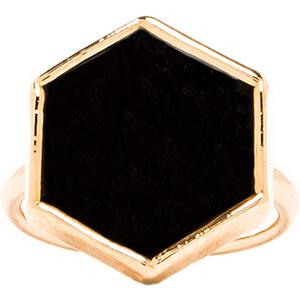 JNB Hexagon Ring in Metallic Gold