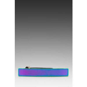 "Nanette Lepore Hologram 3/4"" Band Belt in Metallic Silver"