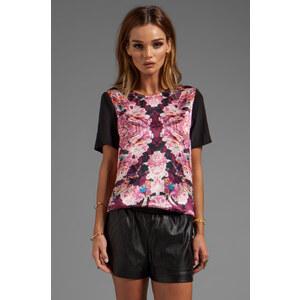 NICHOLAS Rose Relfect Silk T-Shirt in Pink