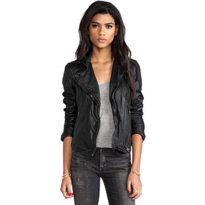 Muubaa Pola Moto Jacket in Black