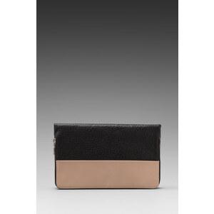Yosi Samra Colorblock Foldover Clutch in Black