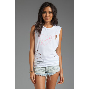 LOVE+MADE Shot to the Heart Tank in White