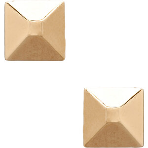 Marc by Marc Jacobs Standard Supply Plaque Large Studs in Metallic Gold
